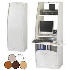 armoire bureau informatique bureau secrétaire informatique à rideau déroulant largeur 60cm 5