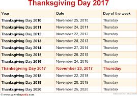 thanksgiving on calendar 2017 calendar template 2017