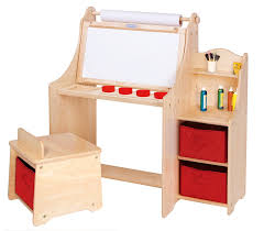 kids art table with storage kids room sit and draw art desk with wide bench seat and footrest