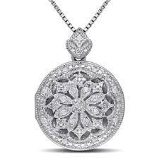silver necklace with diamond images Diamond necklaces for less jpg