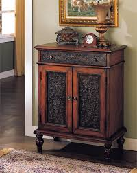 Hallway Accent Table Accent Chest Brown Cherry Floral Accent Chest Console Chest