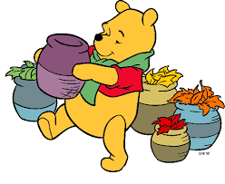 thanksgiving clipart pooh pencil and in color thanksgiving