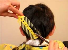 cutting boy hair with scissors how to cut boy s kids hair haircut tutorial combpal scissor