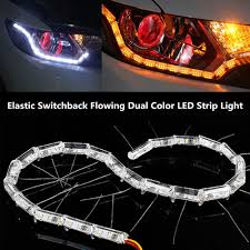 Auto Led Strip Lights by 2x Switchback Flowing Led Strip Light Sequential Turn Signal