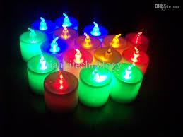 2018 flameless led candle light colorful