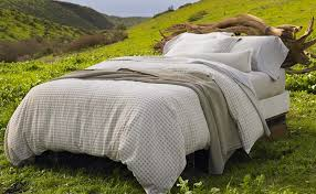 Organic Queen Duvet Cover Hand Embroidered Linen Labyrinth Duvet Cover