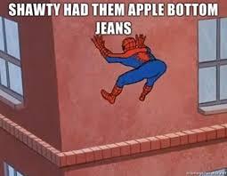 Funny Spiderman Meme - dem applebottoms