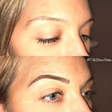 Eyebrow Tattoo Before And After Beautiful Blonde Eyebrows Before And After Microblading