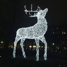 outdoor lighted sculpture lights reindeer moose led for