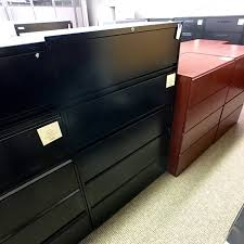 Steelcase Lateral File Cabinets Used Steelcase 5 Drawer 42 Lateral File Cabinet Black Fil1476