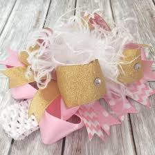 beautiful bows boutique buy big white pink gold boutique hair bow headband for babies