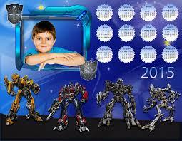 fotomontaje de calendario 2015 minions con foto hacer recursos photoshop llanpac calendario del 2015 de los transformer