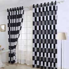 And White Curtains Black And Grey Plaid Curtains For Living Room And Bedroom