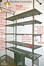 shelves shelves ideas shelf storage fascinating galvanized pipe