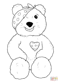 pudsey bear sitting coloring free printable coloring pages