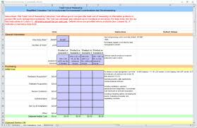 Product Cost Analysis Template by Total Cost Of Ownership Total Cost Of Ownership Template