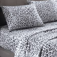 cheetah bedding for girls cozy spun snow leopard print sheet set leopard pinterest
