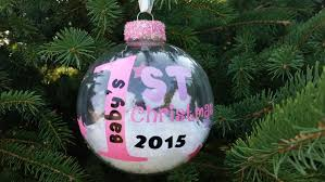 personalized baby u0027s first christmas ornament 2016