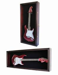 Guitar Storage Cabinet Plans Amazon Com Guitar Display Case Cabinet Wall Hanger For Fender Or