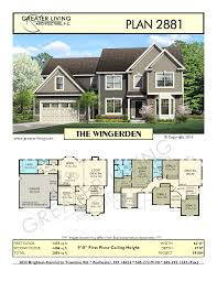 Two Floor House Plans by Plan 2881 The Wingerden Two Story House Plan Greater Living