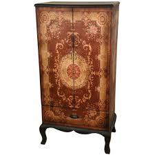 largo antique double door cabinet sauder carson forge indigo blue display cabinet 420140 the home depot