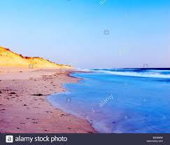 sunrise over marconi beach in wellfleet cape cod with sand dunes
