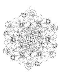 Flower Coloring Pages For Adults Joomla Mandala Flowers Coloring Pages