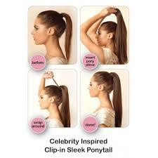 clip in ponytail ponytail sleek wraparound clip in ponytail hairpiece