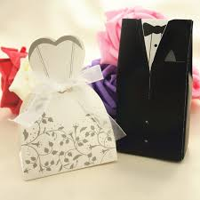 50pcs diy folding wedding decoration box groom tuxedo dress