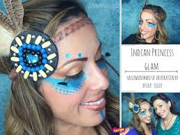 glam pocahontas indian warrior make up youtube