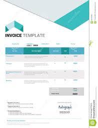 Illustration Invoice Template Invoice Template Design Stock Vector Image 65456065