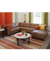 Family Room Furniture Sets Martino Leather Sectional Living Room Furniture Collection