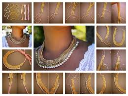 chain collar necklace images Diy woven chain collar necklace jpg