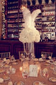 Wedding Feathers Centerpieces by Feather Wedding Centerpieces A Very Gatsby Table Centerpiece