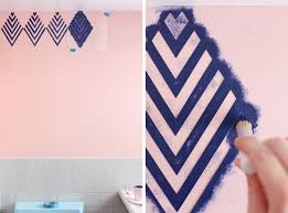 create a wallpaper look with a geometric stencil u2013 a beautiful mess