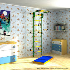 indoor climbing frame for children wall bars with rope rings