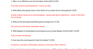Temperature Of The Interior Of The Sun Inside Planet Earth Questions Key Google Docs