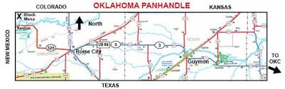 map ok panhandle information for black mesa oklahoma s highest point at 4 973