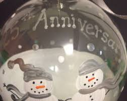 25th wedding anniversary christmas ornament anniversary ornament etsy