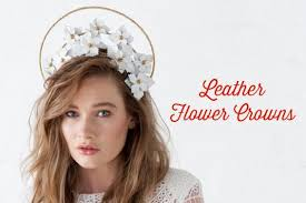 flower crowns leather flower crowns deluxe course how to make hats millinery