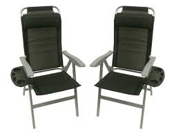 aluminium folding recliner chair optional table footrest