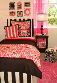 custom designer pink and black dorm room bedding and decor decor