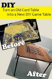 how big is a card table how to upcycle and old card table into a new game table
