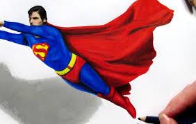 drawn superman superman cape pencil color drawn superman