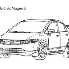 super car honda civic coloring cool car printable free
