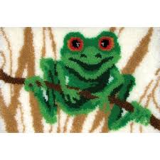 Latch Hook Rugs For Sale Amazon Com Mcg Textiles 37761 Frog Latch Hook Rug Kit
