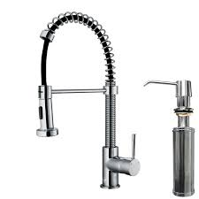 sink u0026 faucet vigo edison single handle pull down spray kitchen