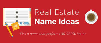 Ideas With A Name Estate Name Ideas And Formulas Top Producers Use
