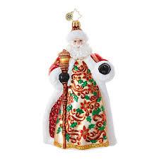 christopher radko ornaments radko santa claus poinsettia