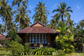 tropical beach house on the island koh kood thailand stock photo